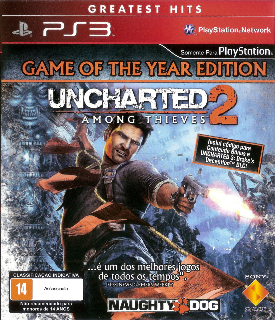 Uncharted 2: Among Thieves (Game of the Year Edition) (Greatest Hits) PS3 coverHQ (BCUS90641)