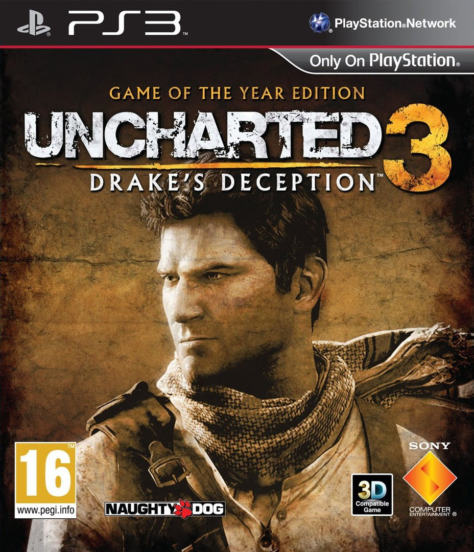 Uncharted 3: Drake's Deception (Game of the Year Edition) PS3 coverHQ2 (BCES01670)