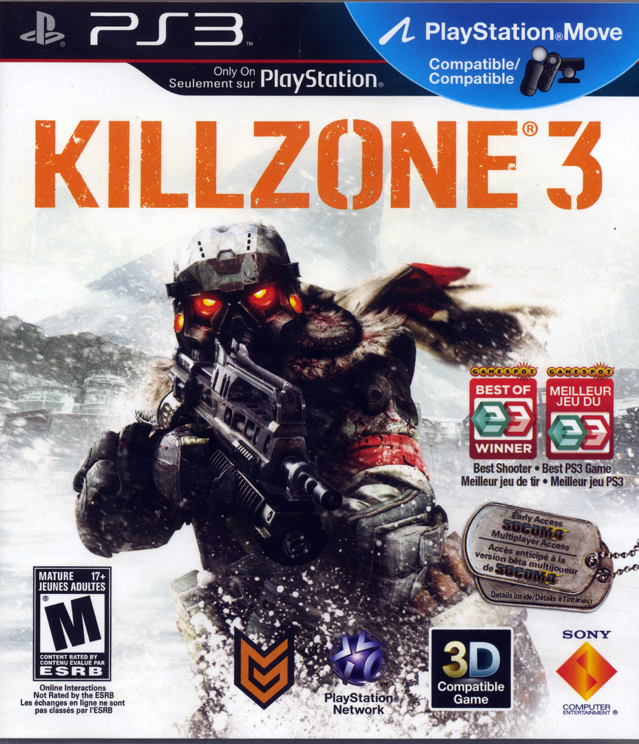 Killzone 3 PS3 coverHQ2 (BCUS98234)