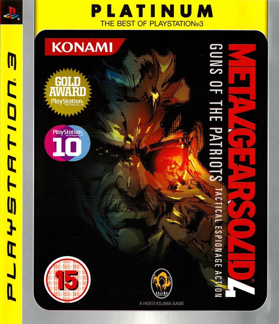 Metal Gear Solid 4: Guns of the Patriots PS3 coverHQB (BLES00246)