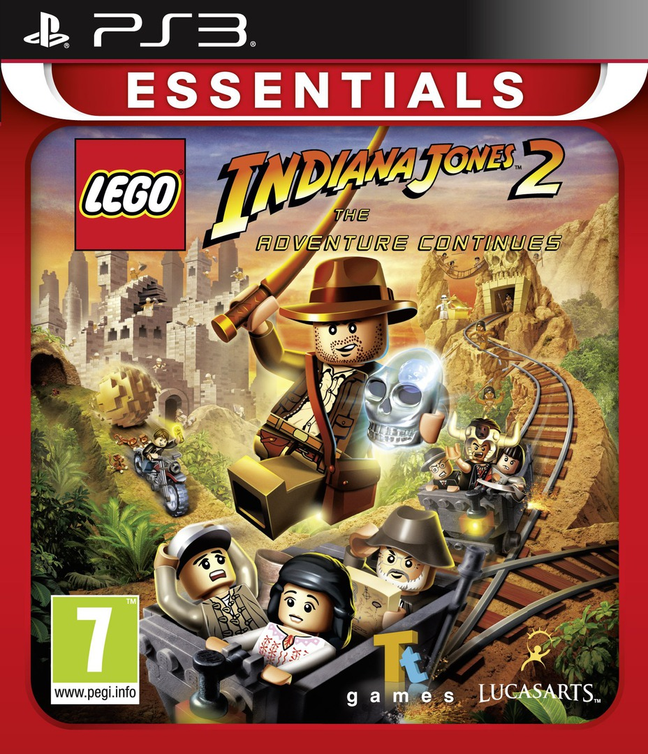 LEGO Indiana Jones 2: The Adventure Continues PS3 coverHQB (BLES00763)