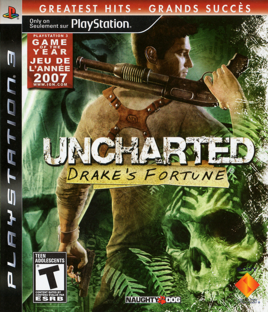 Uncharted: Drake's Fortune PS3 coverHQB2 (BCUS98103)
