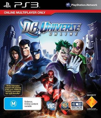 DC Universe Online PS3 coverM (BCES01048)