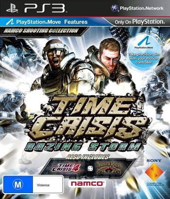 Time Crisis: Razing Storm PS3 coverM (BCES01070)