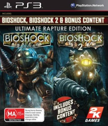 BioShock: Ultimate Rapture Edition PS3 coverM (BLES00316)