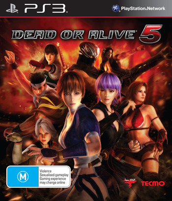 Dead or Alive 5 PS3 coverM (BLES01623)