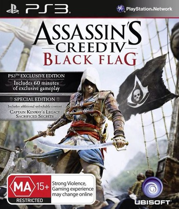 Assassin's Creed IV: Black Flag PS3 coverM (BLES01884)