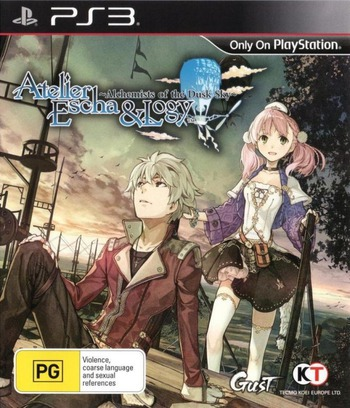 Atelier Escha and Logy: Alchemists of the Dusk Sky PS3 coverM (BLES01992)