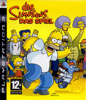 Die Simpsons: Das Spie PS3 coverM (BLES00146)