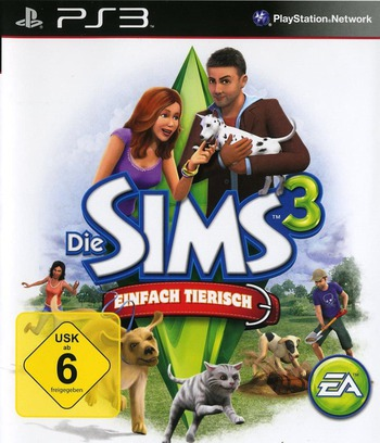 The Sims 3: Einfach Tierisch PS3 coverM (BLES01368)