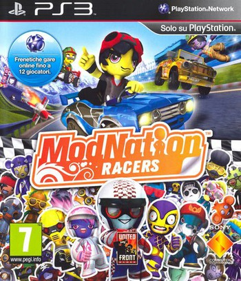 ModNation Racers PS3 coverM (BCES00701)