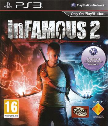 inFamous 2 PS3 coverM (BCES01144)