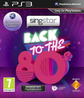 SingStar: Back to the 80s PS3 coverM (BCES01257)