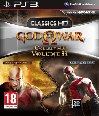 God of War Collection Volume II PS3 coverM (BCES01277)