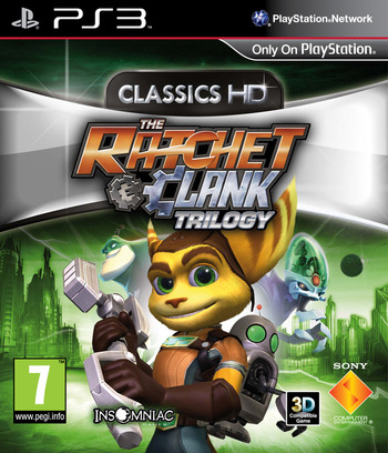 The Ratchet & Clank Trilogy PS3 coverM (BCES01503)