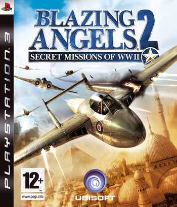 Blazing Angels 2: Secret Missions of WWII PS3 coverM (BLES00103)