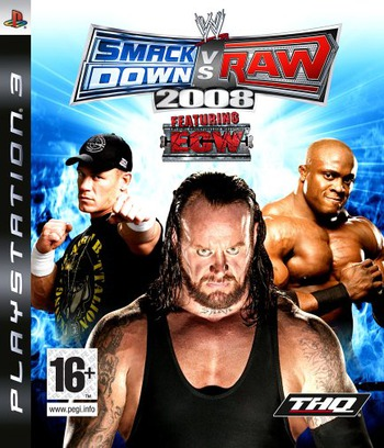 WWE SmackDown vs. Raw 2008 PS3 coverM (BLES00136)