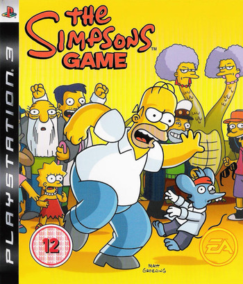 The Simpsons Game Array coverM (BLES00142)