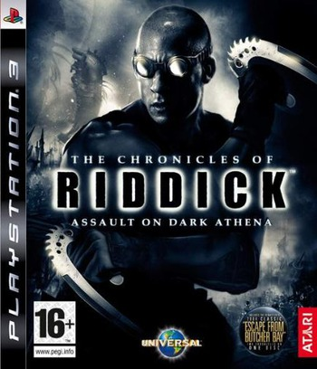 The Chronicles of Riddick: Assault on Dark Athena PS3 coverM (BLES00311)