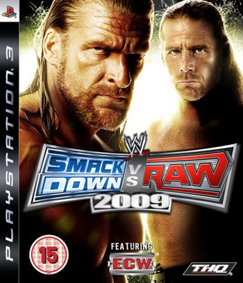 WWE Smackdown vs Raw 2009 PS3 coverM (BLES00361)