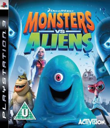 Dreamworks Monsters vs. Aliens PS3 coverM (BLES00490)