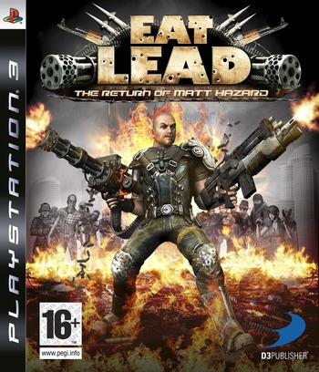 Eat Lead: The Return of Matt Hazard PS3 coverM (BLES00495)
