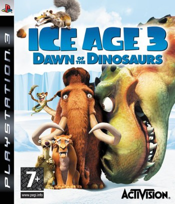 Ice Age 3: Dawn of the Dinosaurs PS3 coverM (BLES00522)