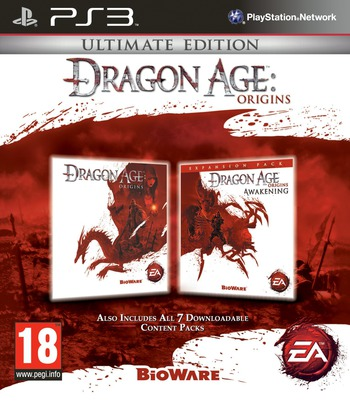 Dragon Age: Origins - Ultimate Edition PS3 coverM (BLES01076)