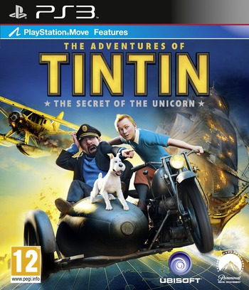 The Adventures of Tintin: The Secret of the Unicorn PS3 coverM (BLES01306)
