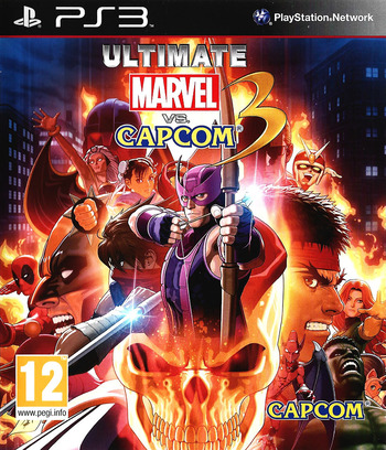 Ultimate Marvel vs Capcom 3 PS3 coverM (BLES01355)