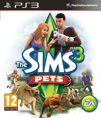 The Sims 3: Pets PS3 coverM (BLES01368)