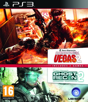 Tom Clancy's Rainbow Six Vegas 2 (Complete Edition) + Ghost Recon Advanced Warfighter 2 (Double Pack) Array coverM (BLES01590)