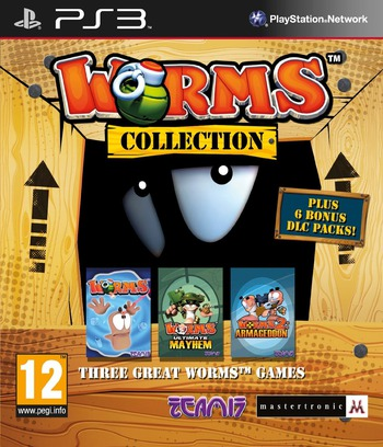 Worms Collection PS3 coverM (BLES01610)