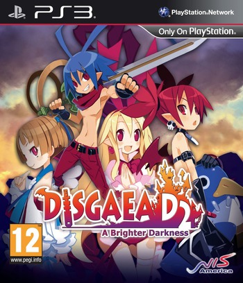 Disgaea D2:A Brighter Darkness PS3 coverM (BLES01939)