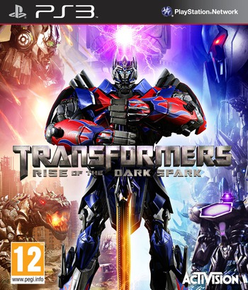 Transformers: Rise of the Dark Spark PS3 coverM (BLES02018)