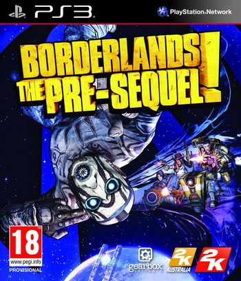 Borderlands: The Pre-Sequel PS3 coverM (BLES02058)