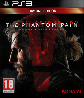 Metal Gear Solid V – The Phantom Pain PS3 coverM (BLES02102)