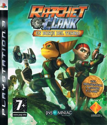 Ratchet & Clank: En busca del tesoro PS3 coverM (BCES00301)