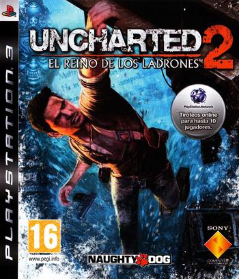Uncharted 2: El Reino de los Ladrones PS3 coverM (BCES00757)