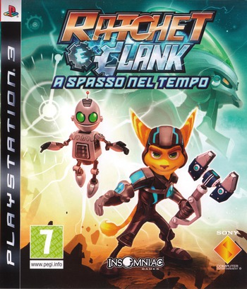 Ratchet & Clank: A spasso nel tempo PS3 coverM (BCES00511)