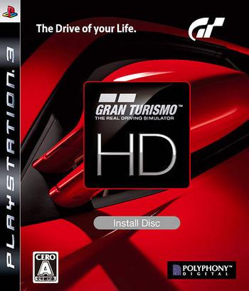 Gran Turismo HD Install Disc PS3 coverM (BCJX96001)