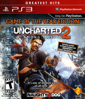 Uncharted 2: Among Thieves (Game of the Year Edition) (Greatest Hits) PS3 coverM (BCUS90641)