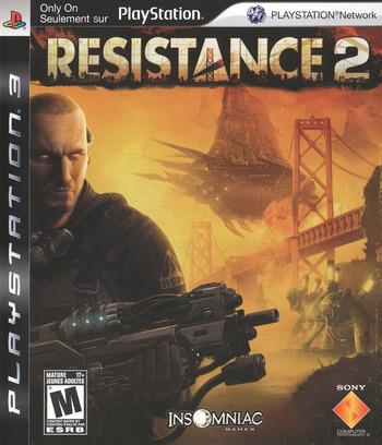 Resistance 2 PS3 coverM (BCUS98120)