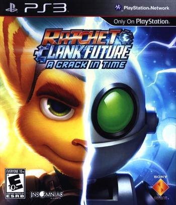 Ratchet & Clank: Future - A Crack in Time PS3 coverM (BCUS98124)