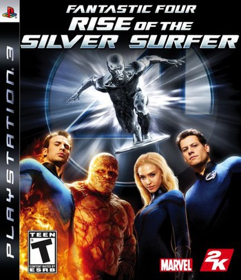 Fantastic Four: Rise of the Silver Surfer PS3 coverM (BLUS30042)
