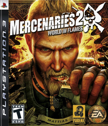 Mercenaries 2: World in Flames PS3 coverM (BLUS30056)