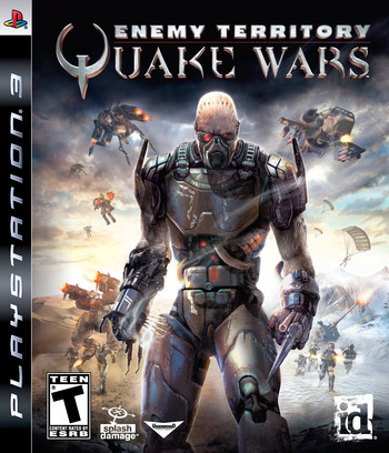 Enemy Territory: Quake Wars PS3 coverM (BLUS30132)