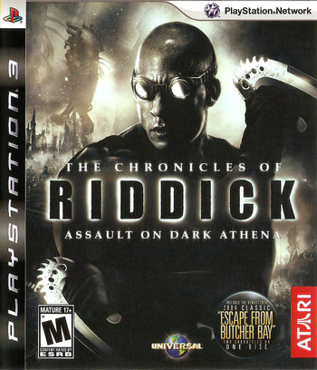 The Chronicles of Riddick: Assault on Dark Athena PS3 coverM (BLUS30156)