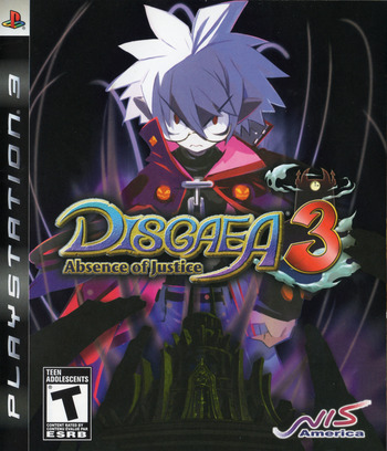 Disgaea 3: Absence of Justice PS3 coverM (BLUS30181)
