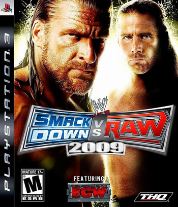 WWE SmackDown vs. Raw 2009 PS3 coverM (BLUS30194)